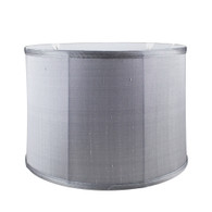 Lamp Shade shallow drum in silk gray