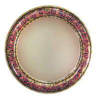 "Aurora Mirror 36"" round in Maltese color scheme"