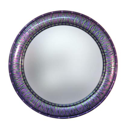"""Aurora Mirror 36"""" round in Purple Tigress Color Scheme"""