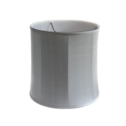 Lamp Shade Deep drum in silk gray