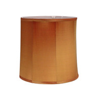 Lamp shade deep drum in silk copper