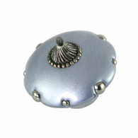 Mini Style 5 Light Sapphire 2 inches diameter with silver metal details