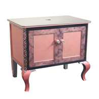 Charisma Vanity Sink Cabinet in Rosy Pink and Moonstone  paint finish