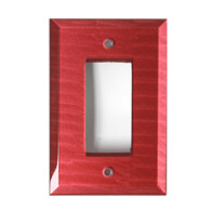 Ruby Glass Single Decora Switch Cover