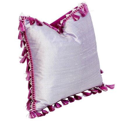 Fiji Pillow Orchid with tassel trim