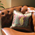 Casbah pillow mocha with twisted rope is a perfect accent for this leather sofa.