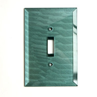Glass Single Toggle Switch Cover Aqua