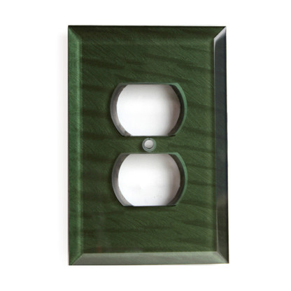 Emerald Glass Single Duplex Outlet Cover
