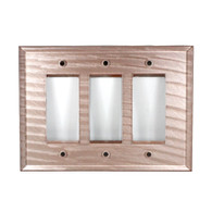 Light Bronze Glass Triple Decora Switch Cover