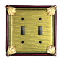 Cleo Jade Double Toggle Switch Cover