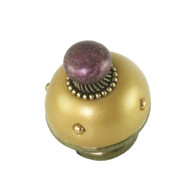 Nu Mini Style #12 knob Light Gold  1.5 inches diameter with gold metal accents
