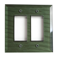 Emerald Glass double decora switch cover