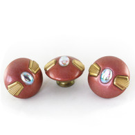 Mini Style #4 Coral knobs 2 in. Diameter with gold metal details