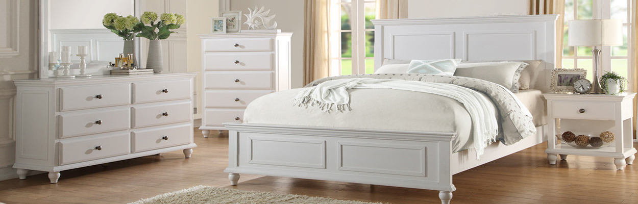 White Platform Bed In Orange County