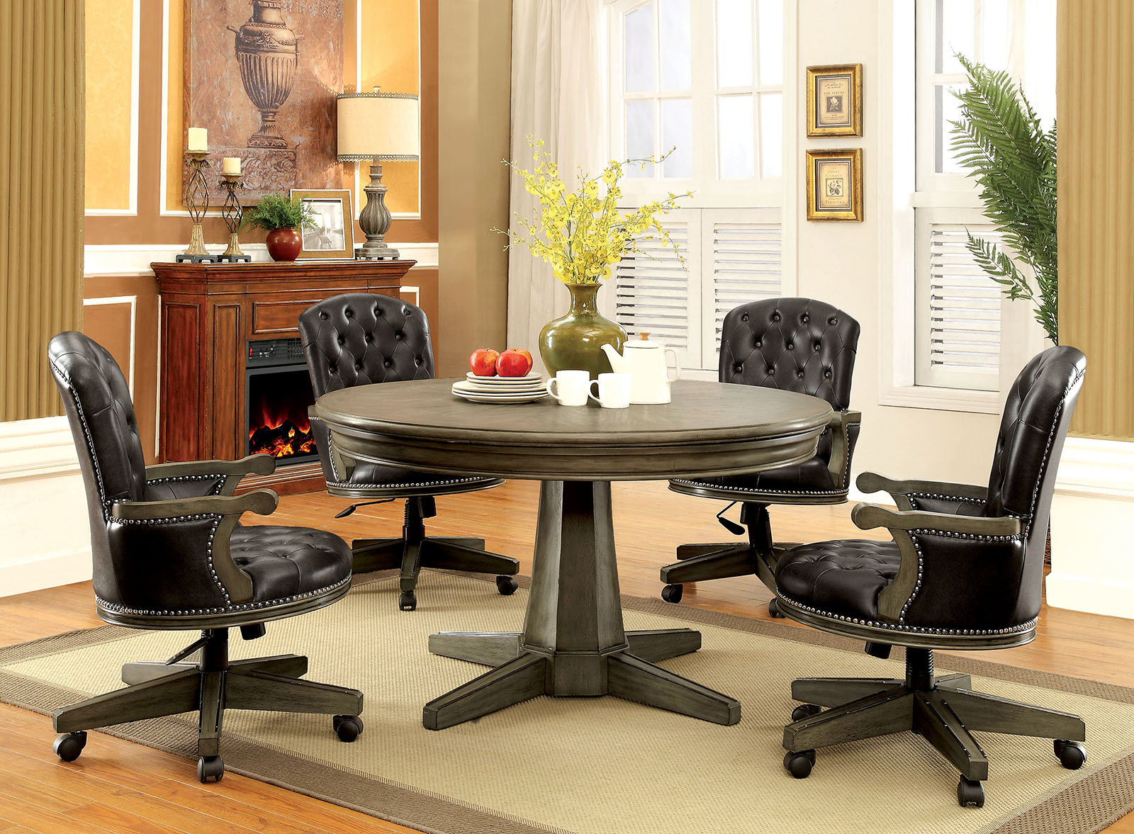 "Yelena Gray 54"" Round Game Room Dining Table"