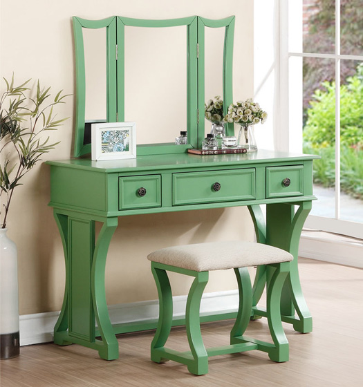 Are Boldly Colored Makeup Tables In Ocfurniture