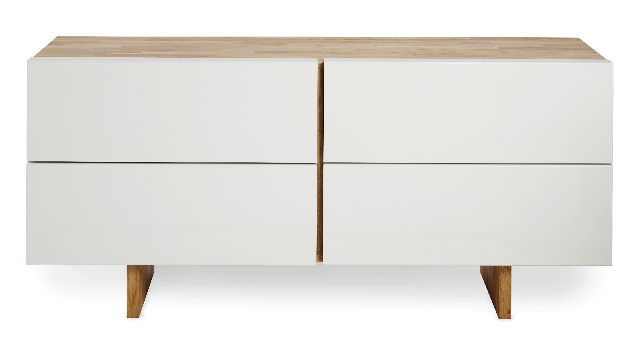 minimalist dresser drawer white