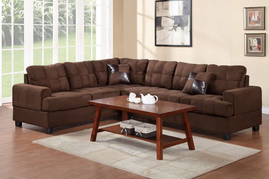 Poundex F7627 2PCS Sectional Sofa Set