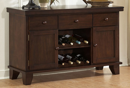 Awesome Wood Sideboard With Wine Rack