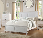 Poundex F9270 Coastal Living White Bedroom Set | White Bedroom Set