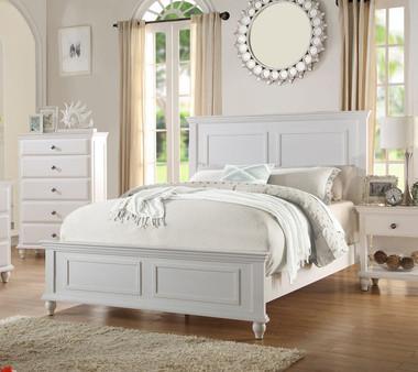 Poundex F9270 Coastal Living White Bedroom
