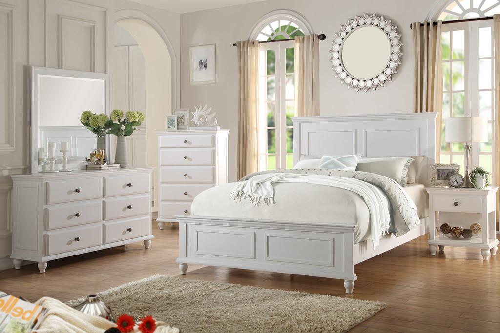 Poundex F9270 Coastal Living White Bedroom Set White Bedroom Set