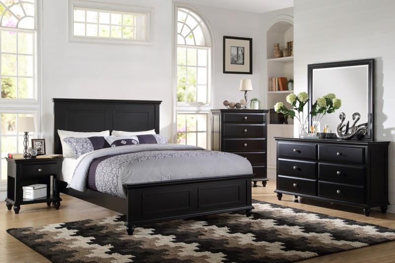 Poundex F9270 Coastal Living White Black Bedroom Set