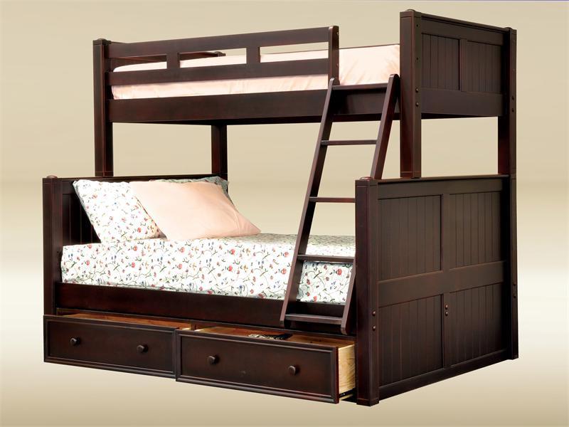 Dillon Black Twin Over Full Bunk Bed Ocfurniture Com