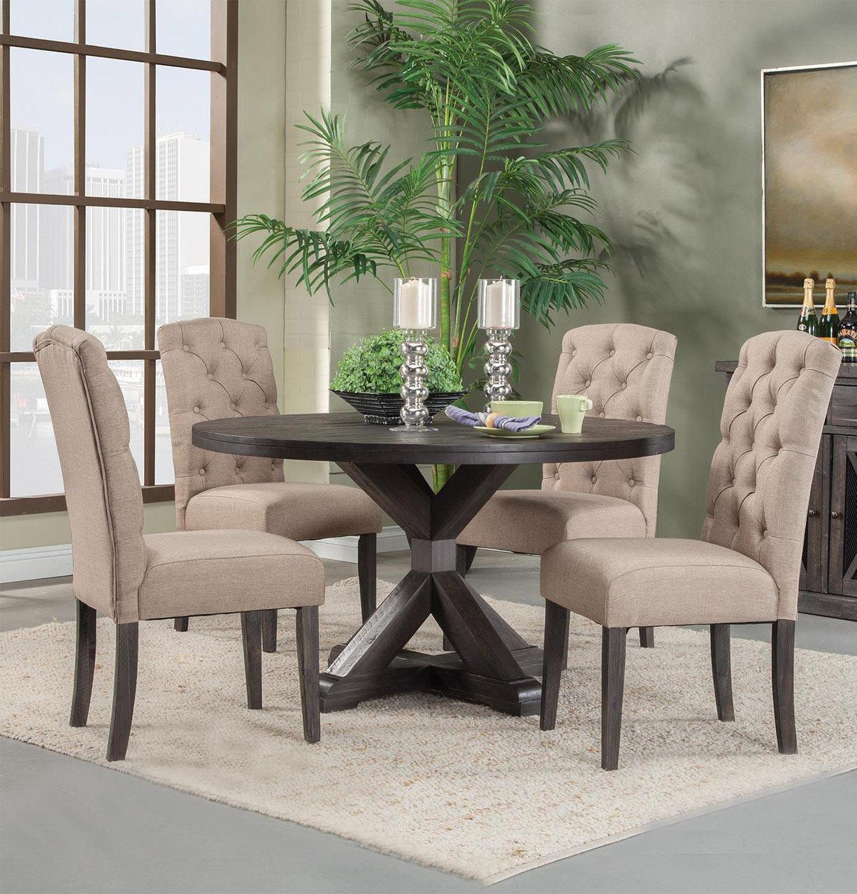 ... Alpine Furniture Newberry Salvaged Grey Round Dining Table | Round Table  ...