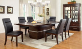 Furniture of America CM3130T Dark Cherry Dining Table with Chairs