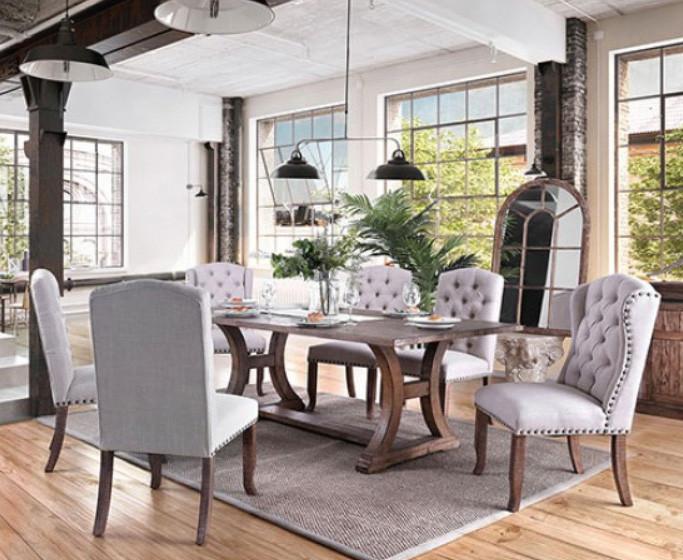 Furniture Of America Rustic Pine Table Set
