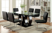 """63"""" Glass Top Rectangular Dining Table Set CM3726T 