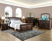 Furniture of America Sleigh 4 Pc Bedroom Set CM7383   Queen and King Bedrooms