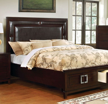 Balfour Brown Cherry Bed with Drawers