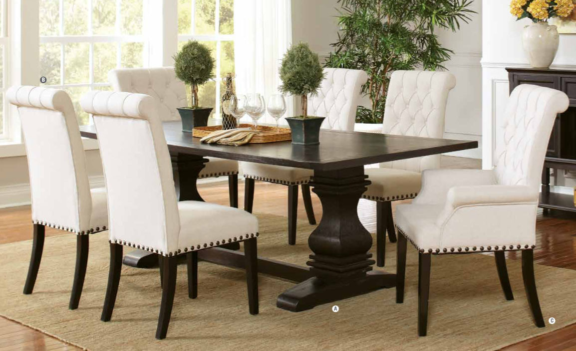 Coaster Furniture 107411 Rectangular Table In Rustic Espresso | Family  Sized Fixed Top Table ...