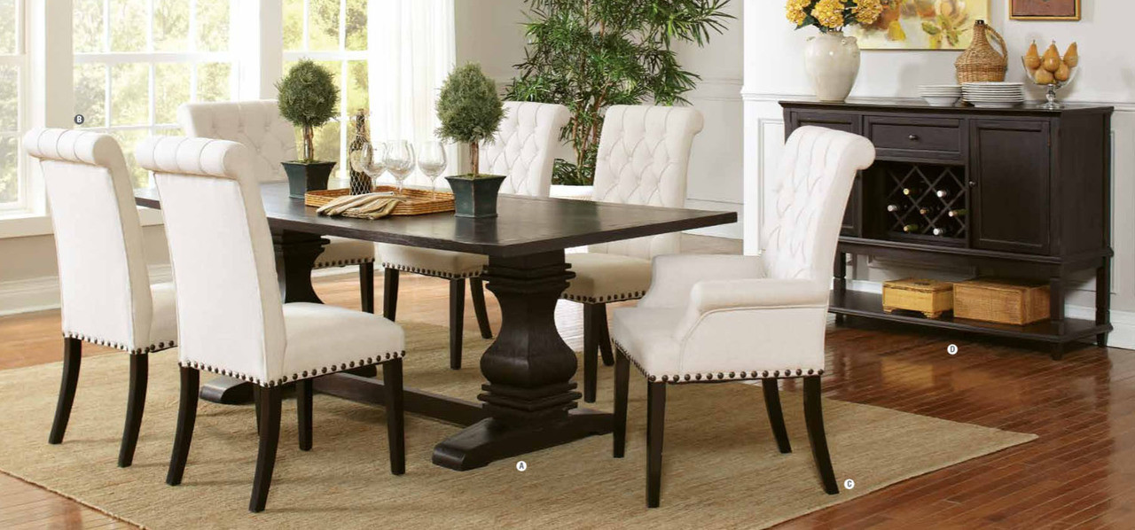 Coaster Furniture 107411 Rectangular Table In Rustic Espresso | Family  Sized Fixed Top Table · Shown With Optional Server