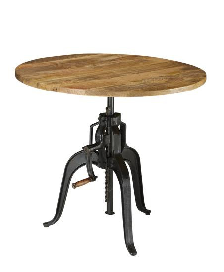 Coaster Furniture 122221 Adjustable Round Table | 36 Inch Versatile  Industrial Adjustable Round Table
