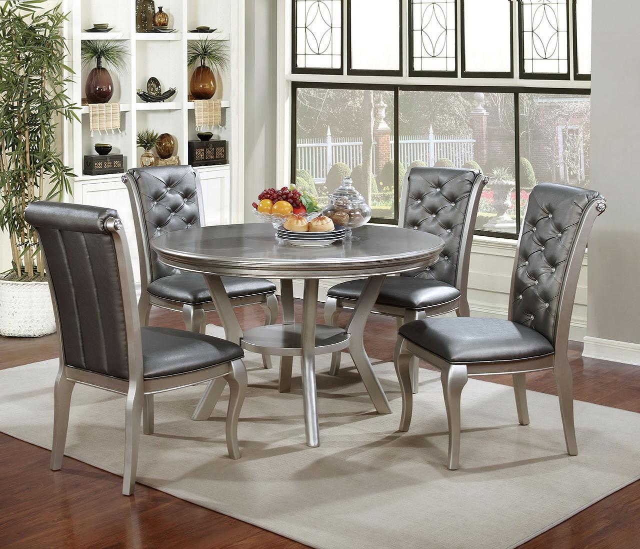 Furniture Of America Cm3219rt Round Dining Set