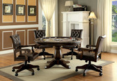 Furniture of America GM347 Round Game Table | Multi Purpose Dining Game Room Table