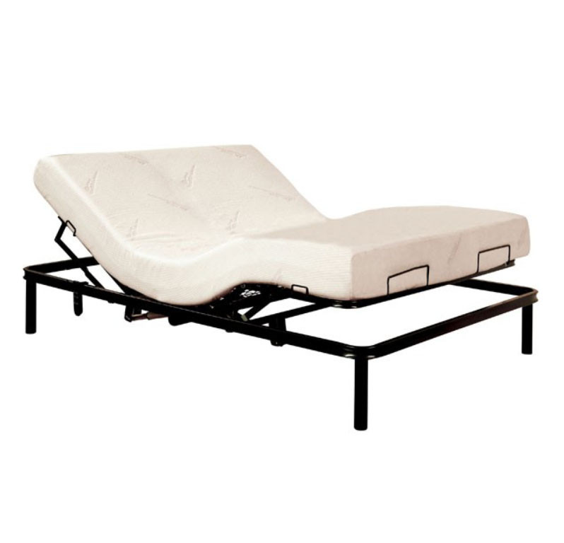 dreamax queen adjustable bed frame with motor shown with optional mattress - Adjustable Bed Frame