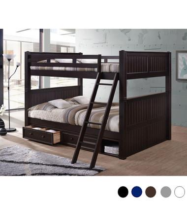 Dillon Queen over Queen Bunk Bed | Convertible Wood Bunk