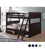 Dillon Queen over Queen Bunk Bed | Convertible Wood Bunk