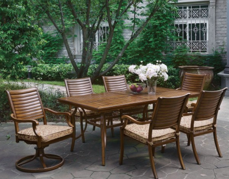 Exceptionnel Desiree Brown Patio Rectangular Outdoor Dining Table Set | DESIREE  CM OT2126 T Patio ...