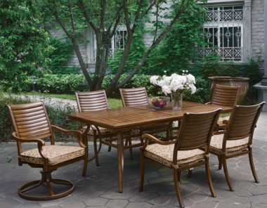 Desiree Brown Patio Rectangular Outdoor Dining Table Set | DESIREE CM-OT2126-T Patio Table Set