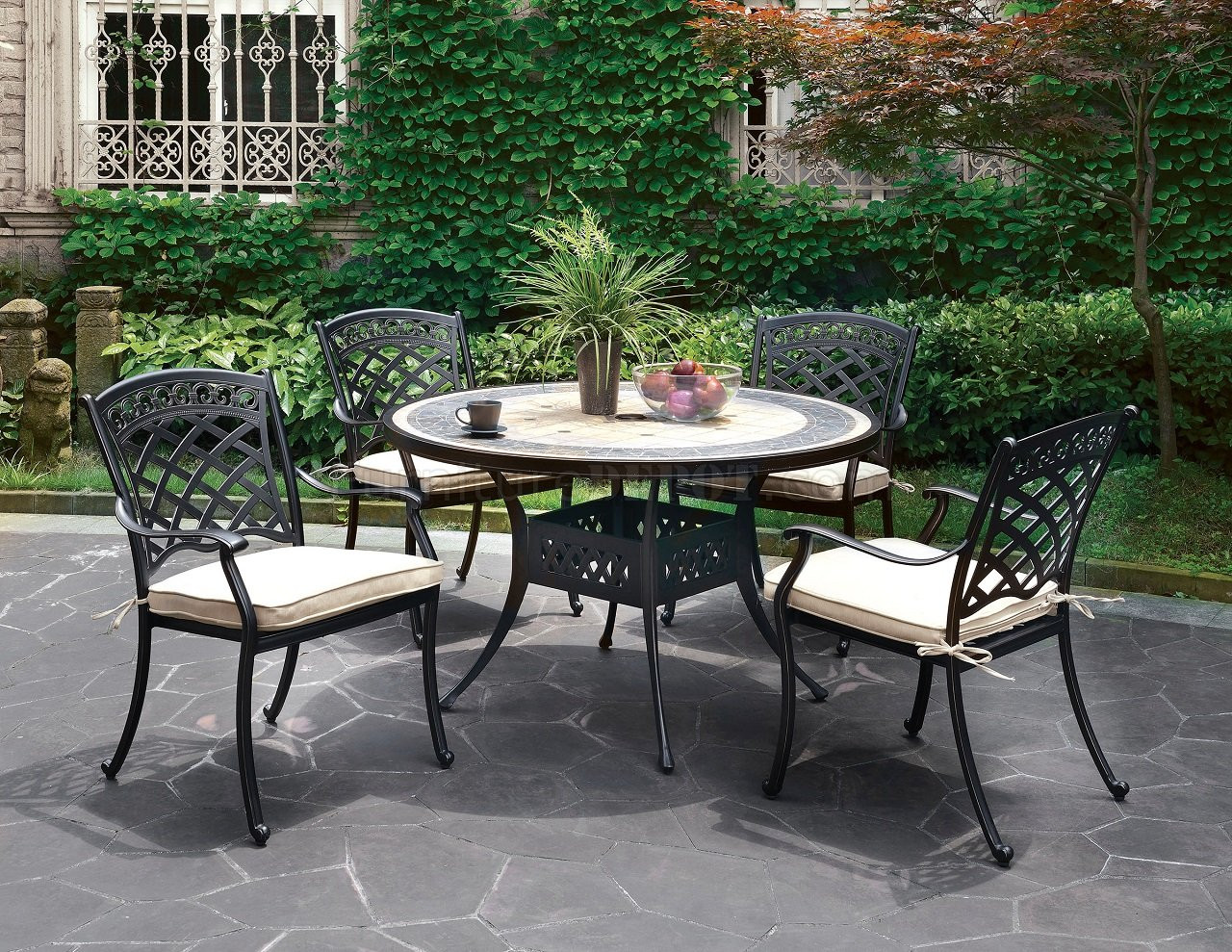 Charissa outdoor patio round dining table set cm ot2125 Outdoor dinner table setting