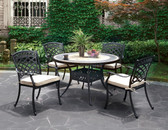 Charissa Outdoor Patio Round Dining Table Set CM-OT2125 | CHARISSA Patio Table with 4 Chairs