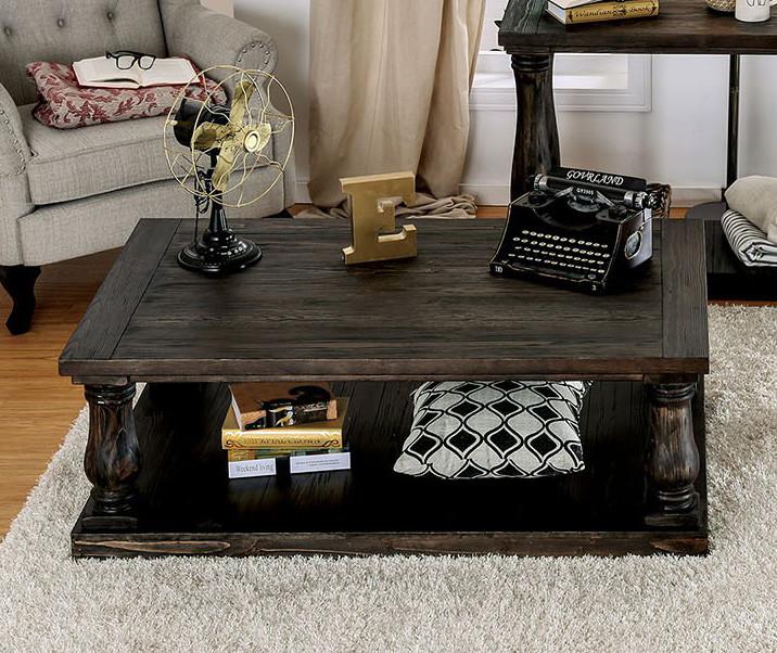 Superb Furniture Of America Cm4455 Weathered Walnut Coffee Table Ibusinesslaw Wood Chair Design Ideas Ibusinesslaworg