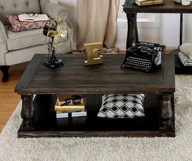 Furniture of America CM4455 Weathered Walnut Coffee Table