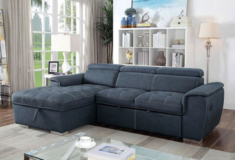 Convertible Sectional Sofa Bed CM6514