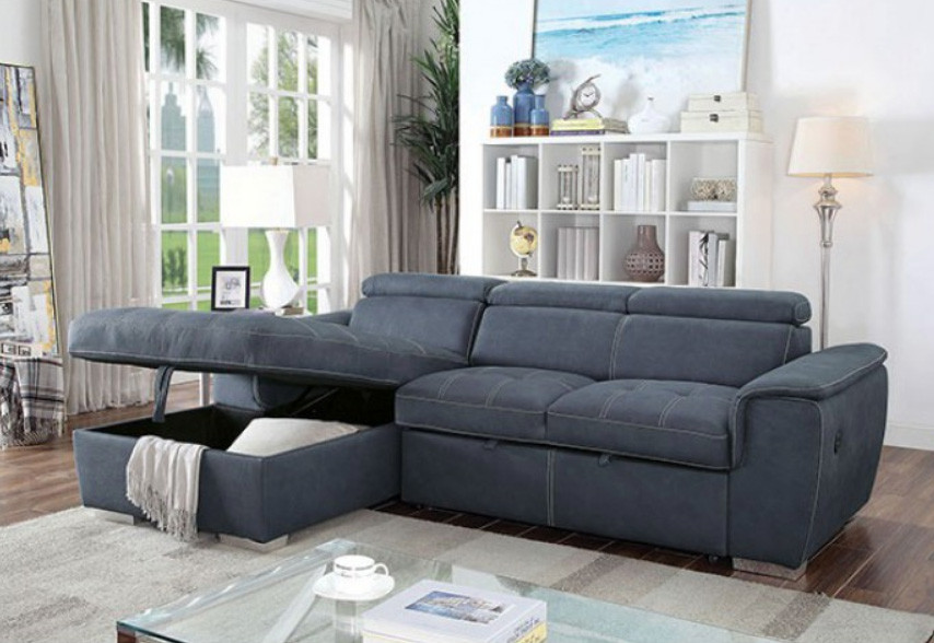 Convertible Sectional Sofa Bed Cm6514 By Furniture Of America